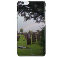 Rainbow Over Deiniolen Cemetery. iPhone Case/Skin