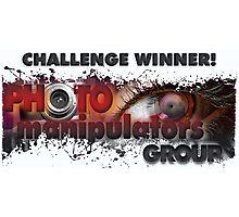 photo manipulators - challenge winner banner submit Photographic Print