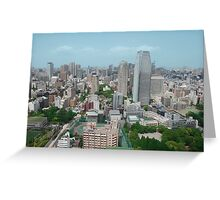 An Aerial View of Tokyo  Greeting Card