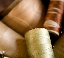 Antique Sewing Thread by doorfrontphotos