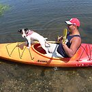 Dog on a Kayak by andytechie
