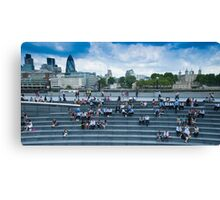 Lunchtime for City Hall Workers Canvas Print