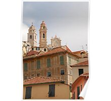 Houses and Church in Cervo  Poster