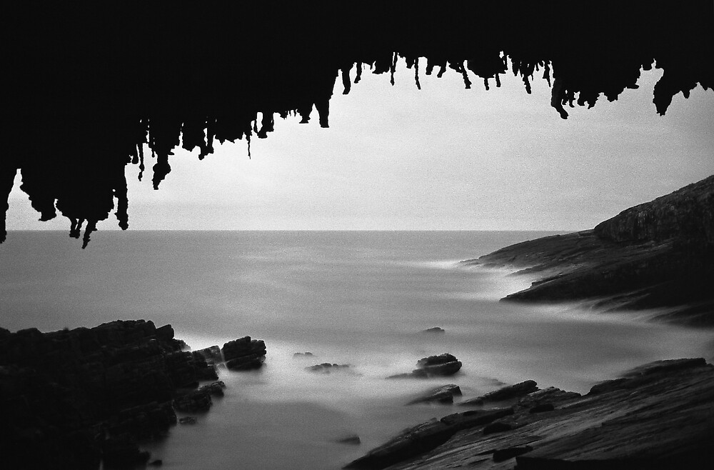 Admiral's Arch by Moonlight - Kangaroo Island, South Australia 2006 by Dan & Emma Monceaux
