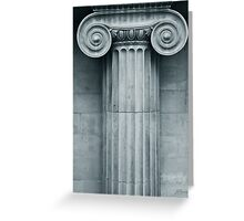 Ionic Capital Greeting Card