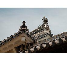 Roof Detail, Himeji Castle, Japan  Photographic Print