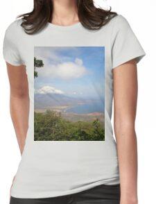 a historic Gabon landscape Womens Fitted T-Shirt
