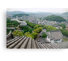 Roof View at Himeji Castle  Metal Print