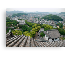 Roof View at Himeji Castle  Canvas Print
