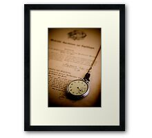 Aged with Time Framed Print