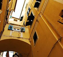 Yellow Street in Monterosso  by jojobob