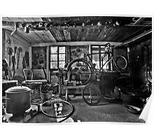 Old bicycle workshop Poster