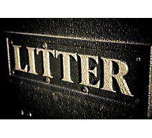 Artistic Litter Photographic Print