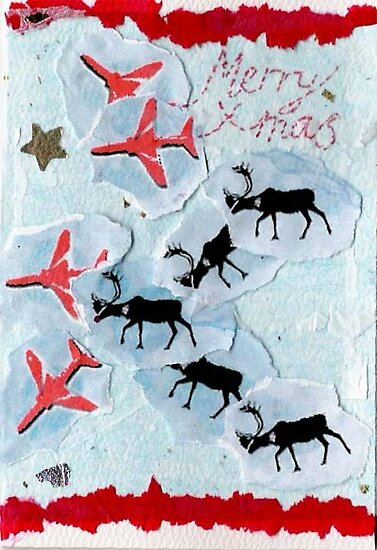 Red Arrows Xmas Card by Blackbird76
