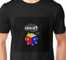 Rubik's Cube with razor blades! I fix it? Blood. Unisex T-Shirt
