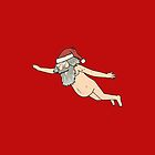 Rick & Morty - Giant Naked Sky Santa! by Skulltech