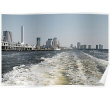 Boat Wake in Tokyo Waterway  Poster