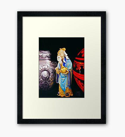 Family Gifts - Still Life Oil Painting Framed Print