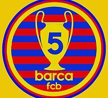 FC Barcelona - 5 times by JuzaShannonNew