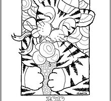 Free Printable Coloring Calendar 2010 With Cute Tiger by oksancia