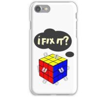 Rubik's Cube with razor blades! I fix it? Blood. iPhone Case/Skin