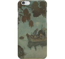 Stories from Hans Andersen - Art by Edmund Dulac - 1911 - 0095 - The Nightingale - Even the Poor Fisherman iPhone Case/Skin