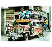 Jeepney. A converted US army Jeep. Poster