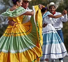 Folklorico Dancers by Linda Gregory