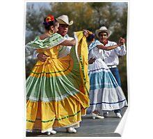 Folklorico Dancers Poster