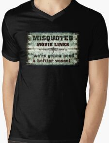 FUNNY MISQUOTED FAMOUS MOVIE LINES - Jaws Mens V-Neck T-Shirt