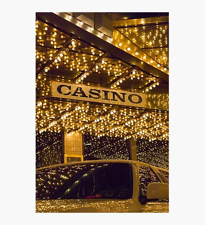 Casino Limo Photographic Print