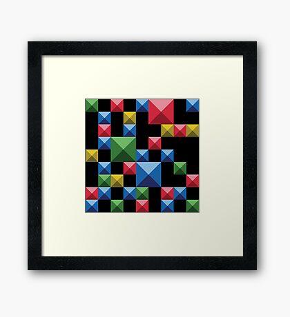 Super tetris Framed Print