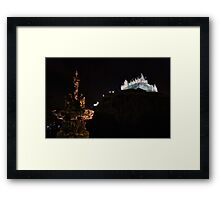 Ross Fountain & Edinburgh Castle By Night Framed Print