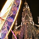 Christmas Ferris Wheel At Walter Scott Monument by Andrew Ness - www.nessphotography.com