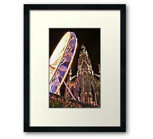 Christmas Ferris Wheel At Walter Scott Monument Framed Print