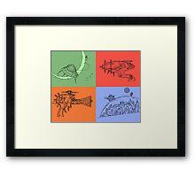 Space Quadrants Framed Print