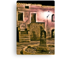 Old Fountain Canvas Print