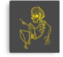 Curious Skeleton Canvas Print