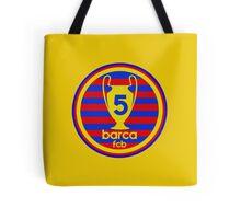 FC Barcelona - 5 times Tote Bag