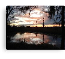 Sunset on Econfina 12-09 Canvas Print