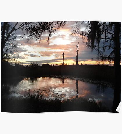 Sunset on Econfina 12-09 Poster