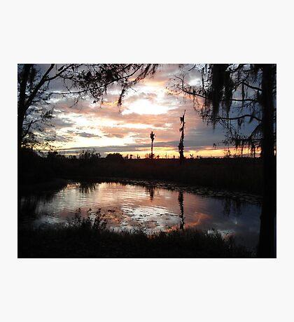 Sunset on Econfina 12-09 Photographic Print