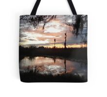 Sunset on Econfina 12-09 Tote Bag