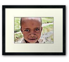 Basotho Boy Framed Print