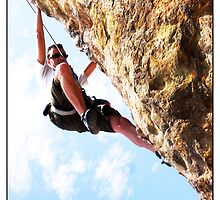 Climbing the overhang by MarkYoung