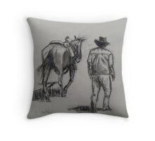 You Can Lead A Man To Water Throw Pillow