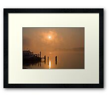 Foggy Ohio River Framed Print
