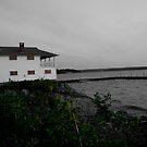 Boathouse at Dusk - Cayuga Lake, New York by rjhphoto