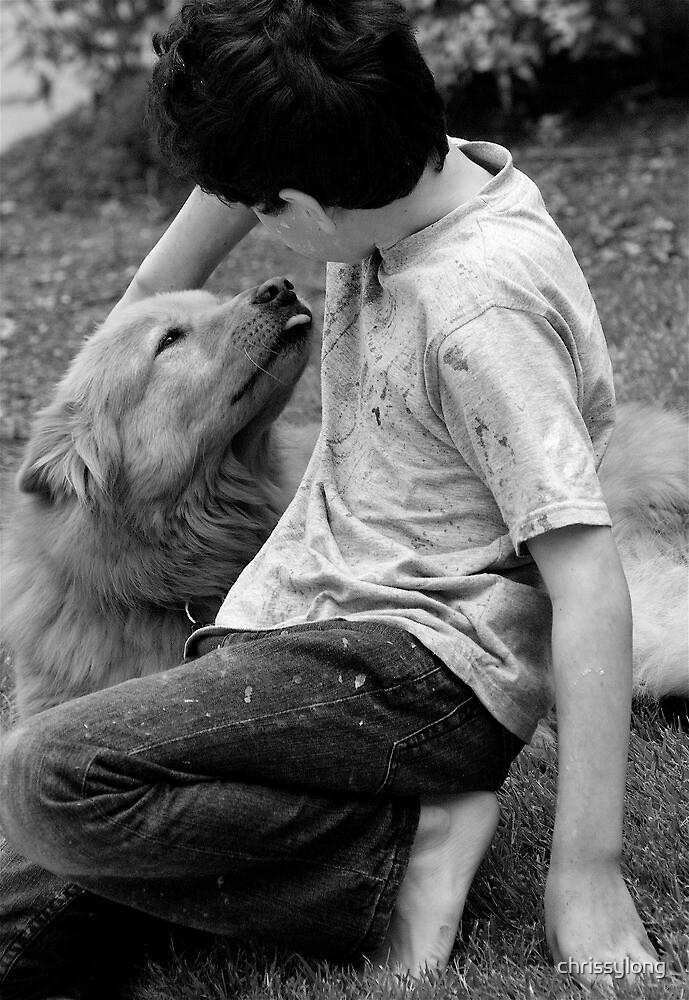 Child and dog by chrissylong