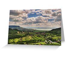 a beautiful Serbia landscape Greeting Card